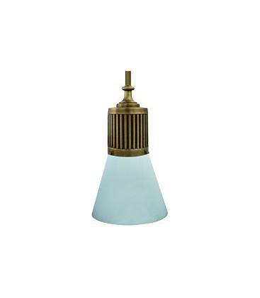 Подвесной светильник из латуни, FEDE коллекция VIENNA GLASS & PIPE, патина