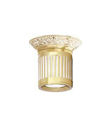 Настенный светильник из латуни, FEDE коллекция VIENNA UP OR DOWN, золото с белой патиной