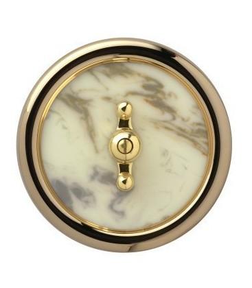 Выключатель в сборе Berker серии Palazzo, белый мрамор