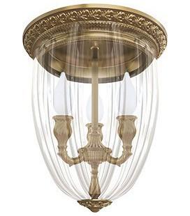 Люстра из латуни с плафоном, FEDE коллекция CHANDELIER I VENEZIA, патина