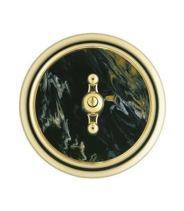 Выключатель в сборе Berker серии Palazzo, черный мрамор