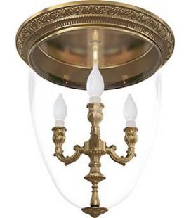 Люстра из латуни с плафоном, FEDE коллекция CHANDELIER I VERONA, патина