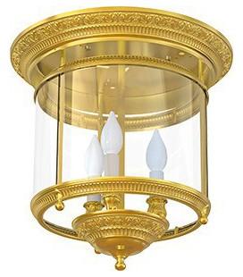 Люстра из латуни с плафоном, FEDE коллекция CHANDELIER II VERONA, блестящее золото