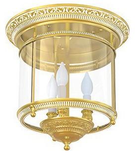 Люстра из латуни с плафоном, FEDE коллекция CHANDELIER II VERONA, золото с белой патиной