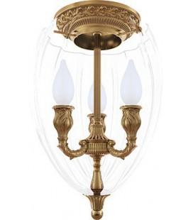 Люстра из латуни с плафоном, FEDE коллекция CHANDELIER I BOLOGNA, патина