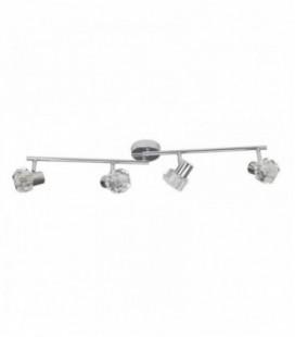 """Светильник потолочный """"Crystal"""", четыре плафона, метал/стекло, 230V, G9, хром"""