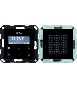 Радиоприемник скрытого монтажа с функцией RDS с динамиком Gira, черный