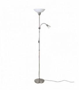 """Лампа напольная """"Darlington"""", два плафона, метал/стекло, 230V, E27, мат.хром"""