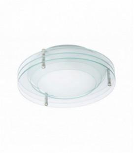 """Светильник потолочный """"Gloria"""", один плафон, металл/стекло, 230V, E14, белый"""