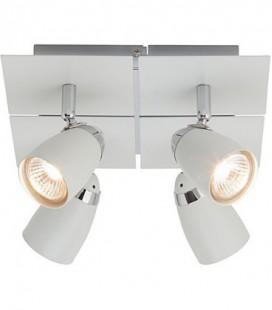 """Лампа потолочная """"Lanos"""", четыре плафона, метал, 230V, GU10, белая"""