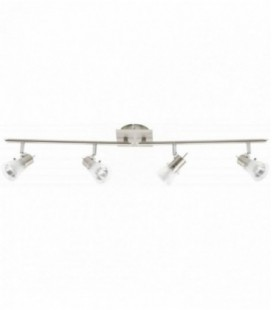 "Лампа потолочная ""Lipari"", четыре плафона, метал/стекло, 230V, GU10, мат.хром/прозрачная"