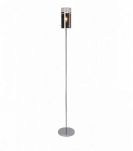 "Лампа напольная ""Carlow"", один плафон, метал/стекло, 230V E27, хром"