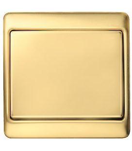 Выключатель в сборе Berker серии Arsys, золотой