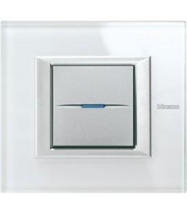 Выключатель в сборе Bticino серии Axolute (прямоугл. формы), Whice