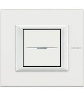 Выключатель в сборе Bticino серии Axolute (прямоугл. формы), White
