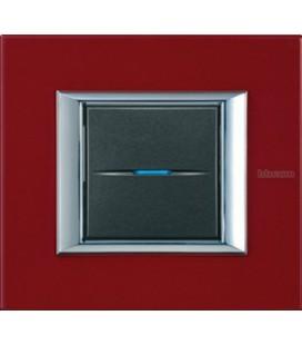 Выключатель в сборе Bticino серии Axolute (прямоугл. формы), Рубин