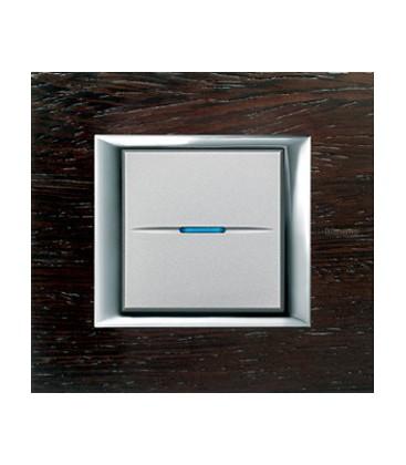 Выключатель в сборе Bticino серии Axolute (прямоугл. формы), Венге