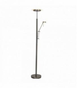 """Лампа напольная """"Arthur """" LED 18W/4, 5W мет./стекло, 230V, E27/E14, сатин хром"""