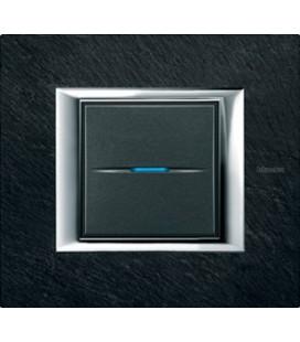 Выключатель в сборе Bticino серии Axolute (прямоугл. формы), Ардезия
