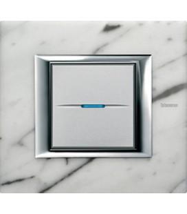 Выключатель в сборе Bticino серии Axolute (прямоугл. формы), Мрамор Каррара
