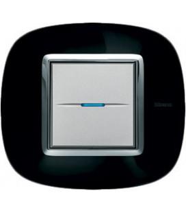 Выключатель в сборе Bticino серии Axolute (овальной формы), Роскошный черный