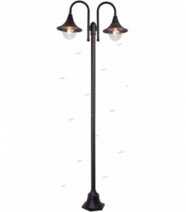 """Лампа напольная """"Berna"""" 2х60W, металл/пластик, 230V, E27, черный"""