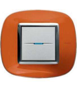 Выключатель в сборе Bticino серии Axolute (овальной формы), Апельсиновая карамель