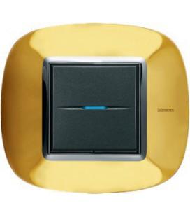 Выключатель в сборе Bticino серии Axolute (овальной формы), Золото