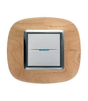 Выключатель в сборе Bticino серии Axolute (овальной формы), Клен
