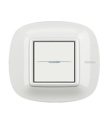 Выключатель в сборе Bticino серии Axolute (овальной формы), White