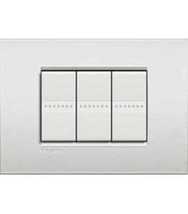 Выключатель в сборе Bticino серии LivingLight AIR, Белый жемчуг