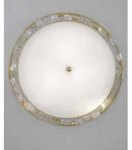 Светильник потолочный Kolarz BELLISSIMA, белый плафон, оливки strass SW, золото, 309.13.4