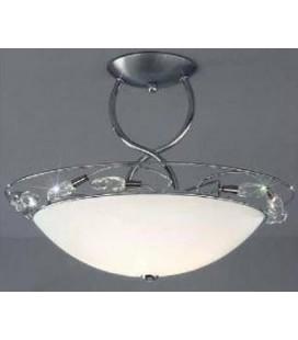Светильник потолочный Kolarz BELLISSIMA, белый плафон, оливки strass SW, хром, 309.82.5