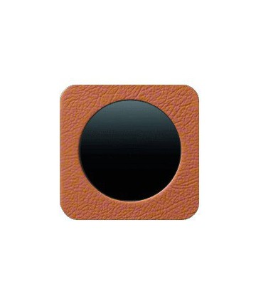 Выключатель одноклавишный в сборе Berker серии R.1 кожа, коричневый