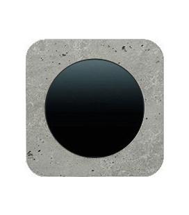 Выключатель одноклавишный в сборе Berker серии R.1 бетон, шлифованный