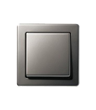 Выключатель в сборе Gira Edelstahl серия 21, сталь