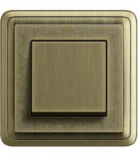 Выключатель в сборе GIRA серии ClassiX Art, бронза