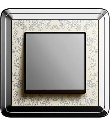 Выключатель в сборе GIRA серии ClassiX Art, хром-кремовый