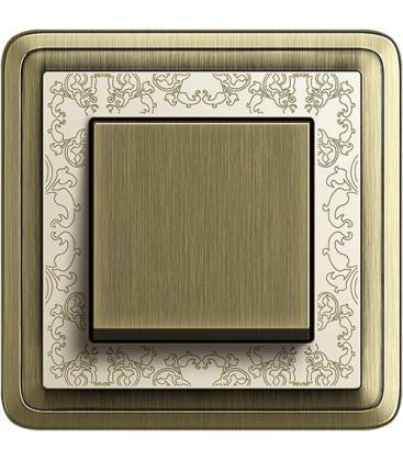 Выключатель в сборе GIRA серии ClassiX Art, бронза-кремовый