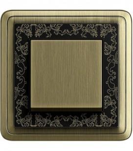 Выключатель в сборе GIRA серии ClassiX Art, бронза-черный