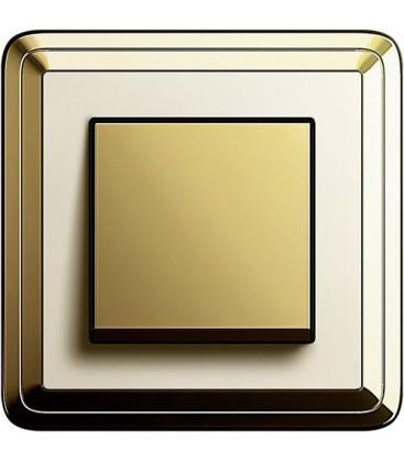 Выключатель в сборе GIRA серии ClassiX, латунь-кремовый
