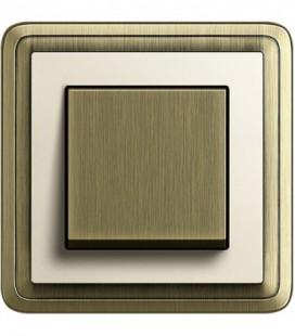 Выключатель в сборе GIRA серии ClassiX, бронза-кремовый