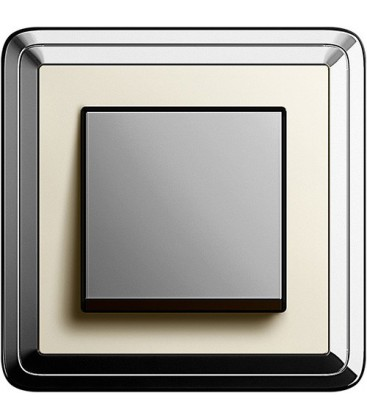 Выключатель в сборе GIRA серии ClassiX, хром-кремовый