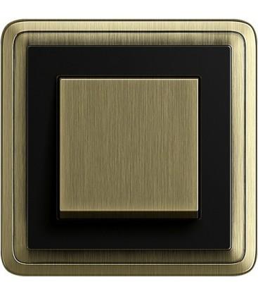 Выключатель в сборе GIRA серии ClassiX, бронза-черный