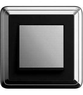 Выключатель в сборе GIRA серии ClassiX, хром-черный