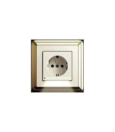 Розетка в сборе GIRA серии ClassiX, латунь-кремовый