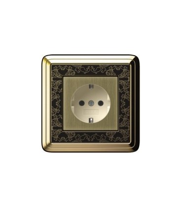 Розетка в сборе GIRA серии ClassiX Art, бронза