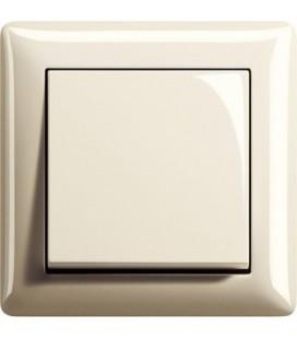 Выключатель в сборе GIRA серии Standart 55, глянцевый кремовый