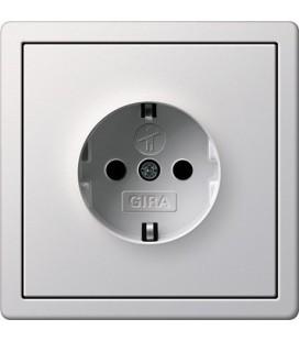 Розетка в сборе GIRA серии F100, глянцевый белый