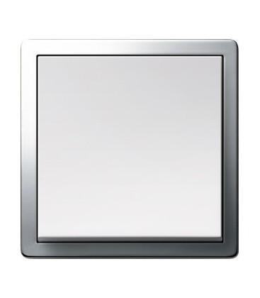 Выключатель в сборе GIRA серии F100, хром/глянцевый белый